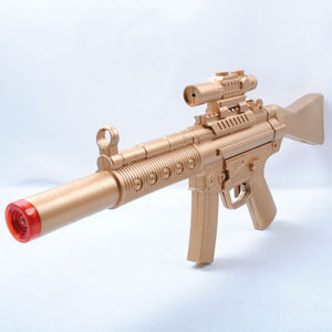 Gold plastic toy airsoft sniper gun with light