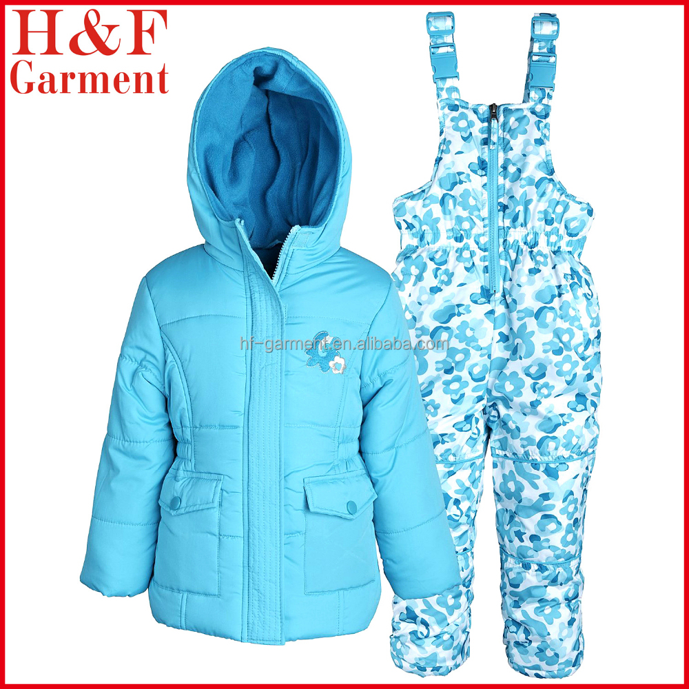 Girl sports clothes sets for winter waterproof windproof