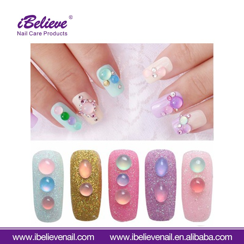 Free sample nail art DIY multi color resin cat eye stone nail art stone sticker