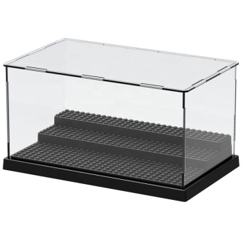 Acrylic Material and Clear Color legoingly acrylic mini action figures display box