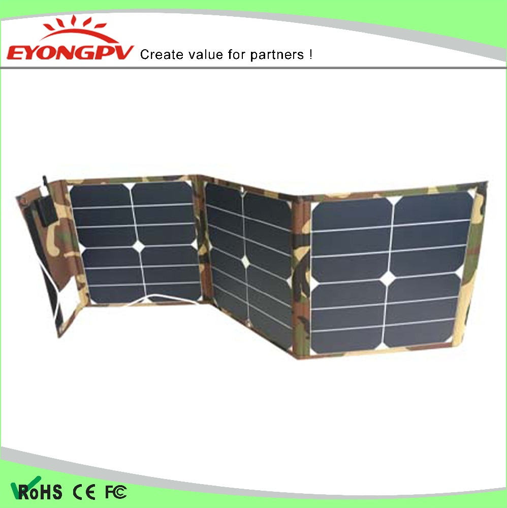 Portable 40W USB Solar Charger 5V Foldable Solar Panel Waterproof