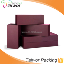 luxury matte lamination paper gift box for 1 bottle wine pack