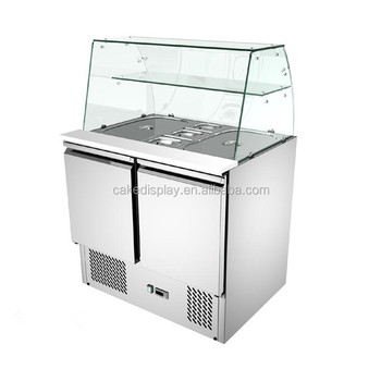 Used Subway Sandwich Prep Table Refrigerated Pizza Commercial Countertop Salad Refrigerator