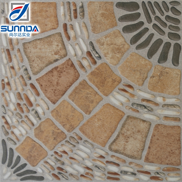 400x400mm AAA grade rustic outdoor garden compound anti-slip glazed porcelain decorative flooring tiles made in China