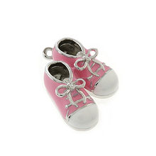 Cute Design Jewelry Accessories Pink Color Baby Girl Shoes Pendants