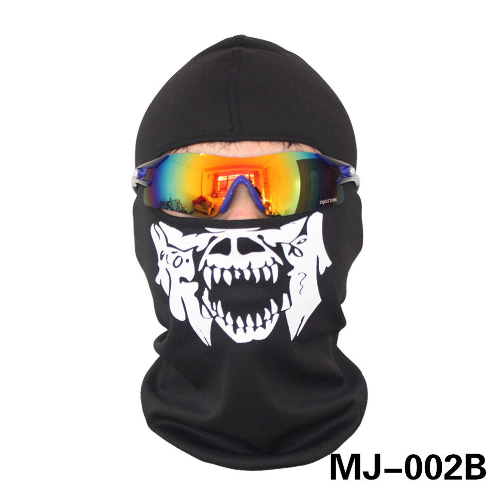 Breathable Full Face Mask Winter Ski Mask Halloween Ghost Skull Motorcycle Bike Windproof Mask Outdoor Sports Balaclava