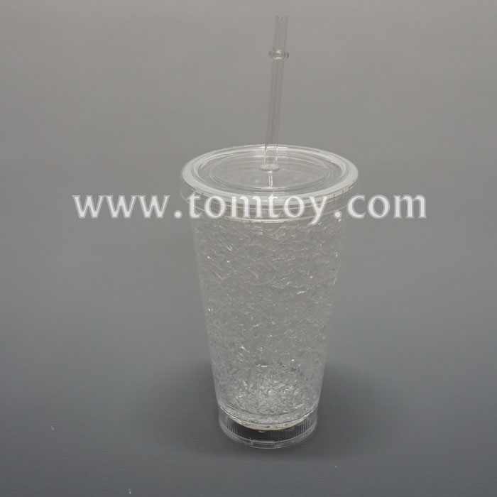Barware LED Light up Drink Cup with Straw