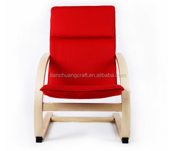 Hot Selling Chair, Recliner Bent Wood Kids Chair Children Furniture Moon  Shaped