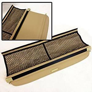 08 09 10 11 12 Smart Fortwo Rear Trunk Roll Tan Cargo Shielding Tonneau Cover PVC Net