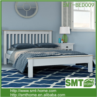 Latest New Designed Solid Pine Double Bed Designs In Wood