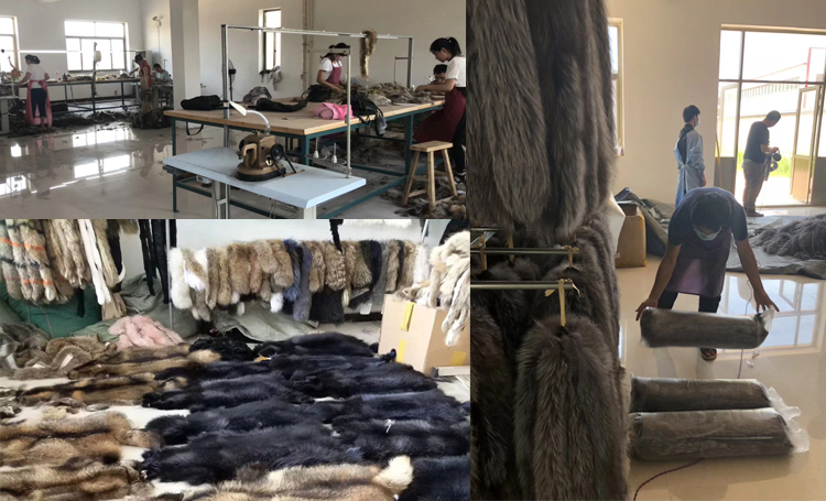 Dense Real Raccoon Fur Scarf custom made