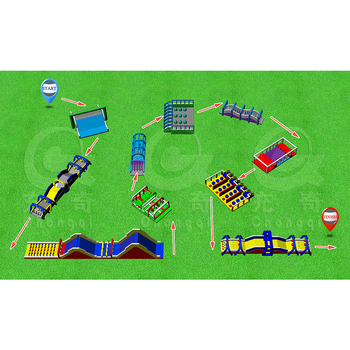 chongqi inflatable 5K Obstacle Course,Insane sports 5K inflatable obstacle course game ,inflatable 5K Obstacle