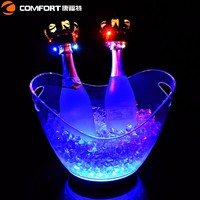 Best cheaper light bucket on sale luminous charging acrylic drinks clear wine led ice bucket