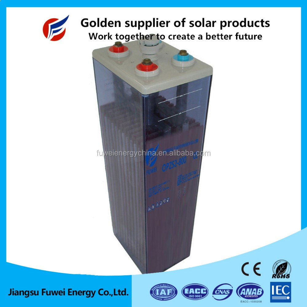 Maintenance free deep cycle tubular gel 2V 800Ah OPzS battery in storage battery for inverter