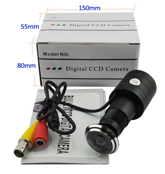 CCTV Mini Door Camera Manufacturer Sony CCD 700TVL Mini Door Camera with 1.78mm Wide Angle Lens