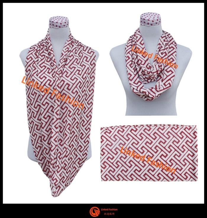 Fashion New Design Plain Print Chiffon Scarf Assorted Colors ...