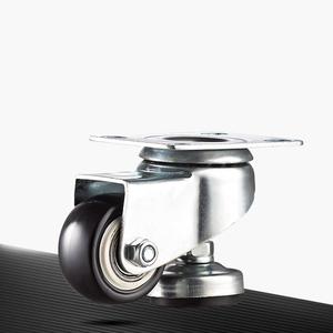 Height adjustable retractable locking caster wheels