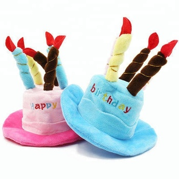 PCL033 High Quality Nice Cute Comfortable Handmade Pet Dog Cat Happy Birthday Cake Hat For Party