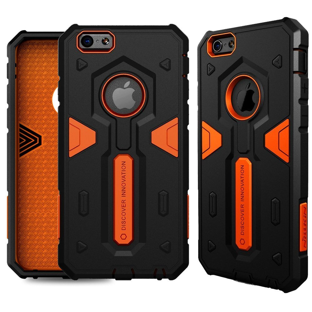 """For Apple iPhone 6 Plus/6S Plus 5.5"""" Case,Nillkin [Defender II][Drop Protection][Anti-Scratch][Armor Hybrid][Shockproof][Heavy Duty][Slim Fit][Dust Plug] For Apple iPhone 6 Plus/6S Plus 5.5""""- Orange"""