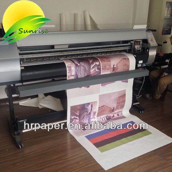 100gsm, 44''/1118mm full tacky/ sticky /adhesive sublimation paper roll anti immigration