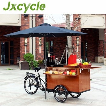 Selling Hot Dogs On Bicycle