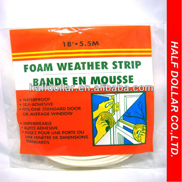 Convenient Foam Weather Strip Tape For One Dollar Item