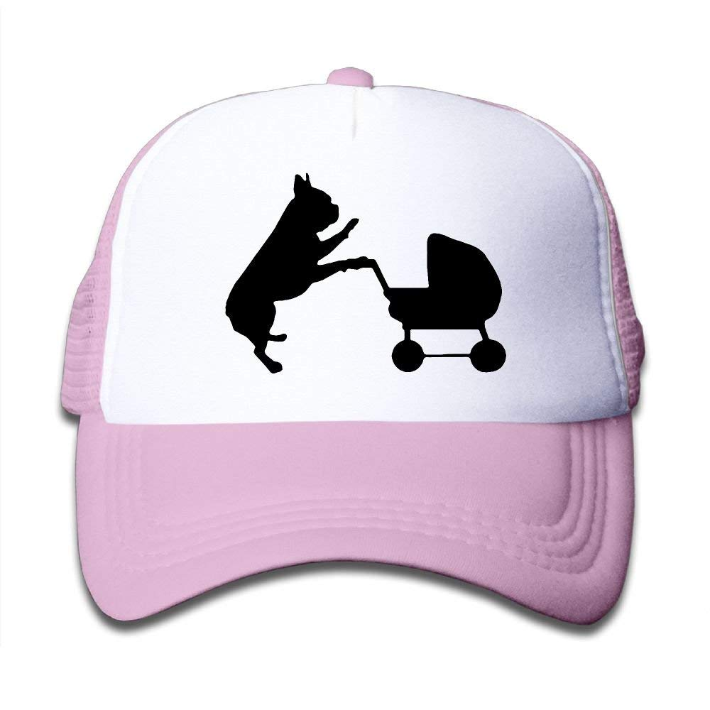 BOYGIRL-CAP French Bulldog The Baby Kids Girls Boys Adjustable Mesh Cap Snapback Mesh Baseball Hat Trucker Hat