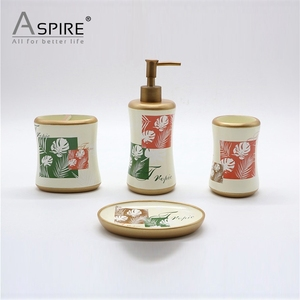Household Cheap Polyresin Bathroom Accessories Resin Bath Set