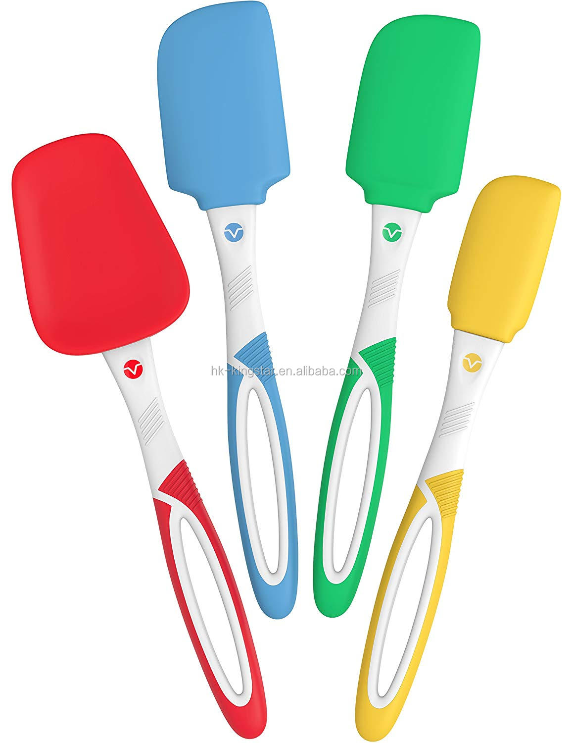 4 pcs set Silicone Spatulas Heat Resistant Silicone Kitchen Utensils