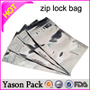Yason min grip (reclosable packaging) bags with ziplock and tear notch small aluminum foil bag with ziplock and hanged hole