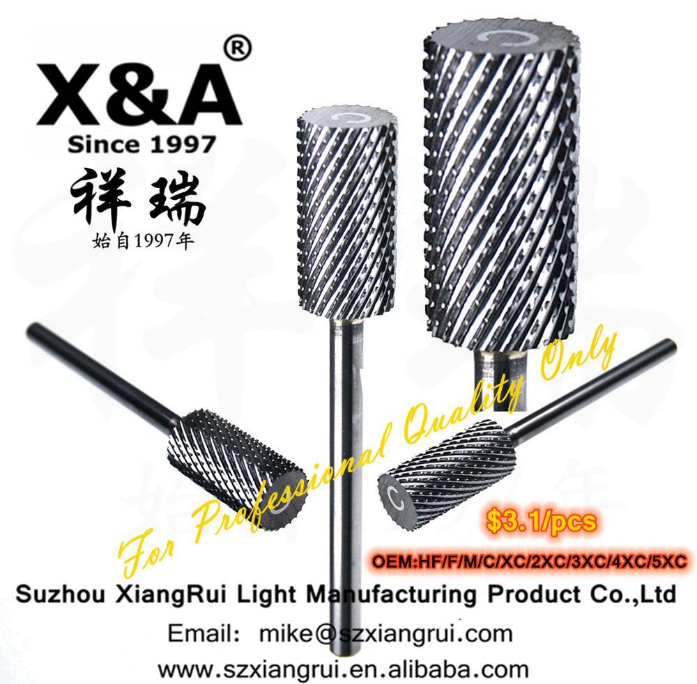 X&A Brand C Tungsrn Caride Burr, Nail Drill Bit, Sliver and god