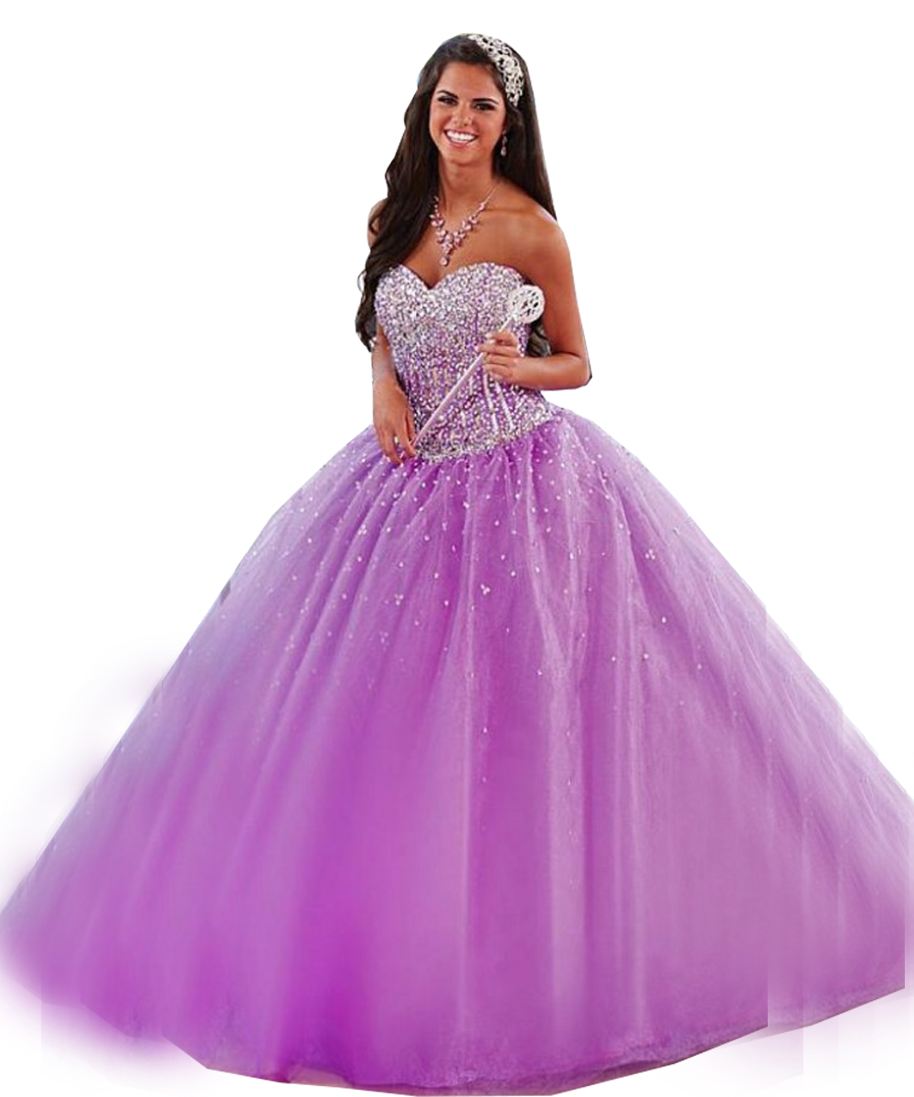 2015 Light Purple Quinceanera Dresses Ball Gown Luxury ...