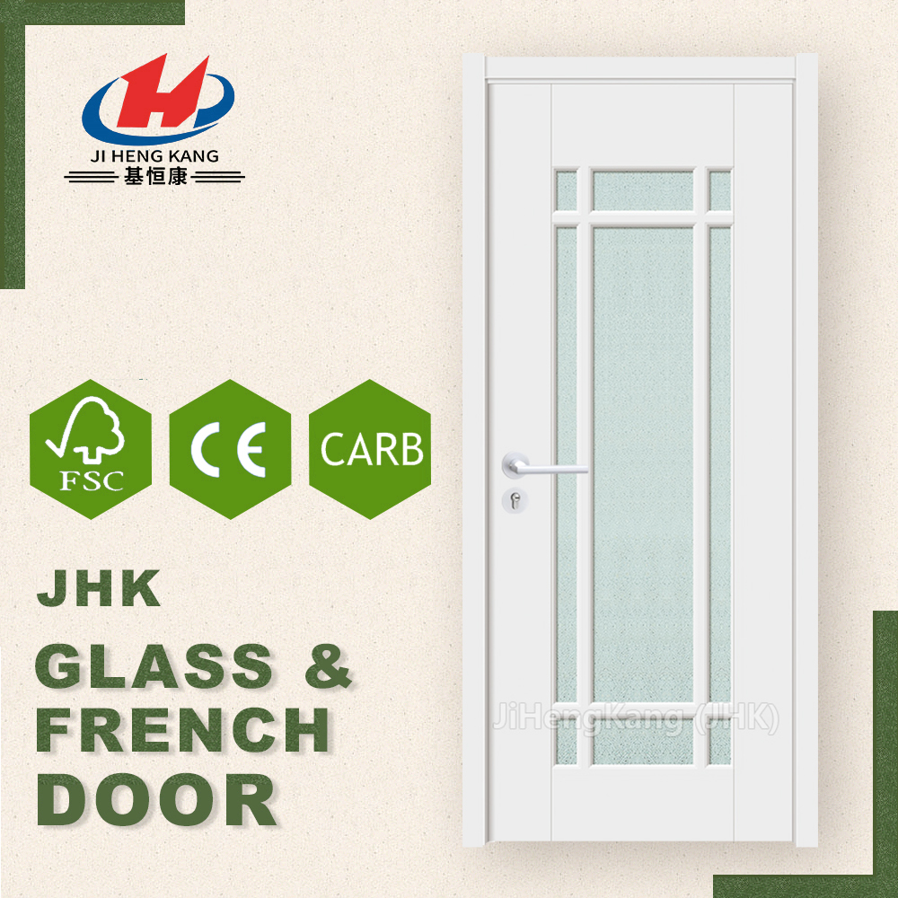 JHK-G33 Indian Patterned Door Designs Cheap Closet Double Wardrobe Glass French Doors