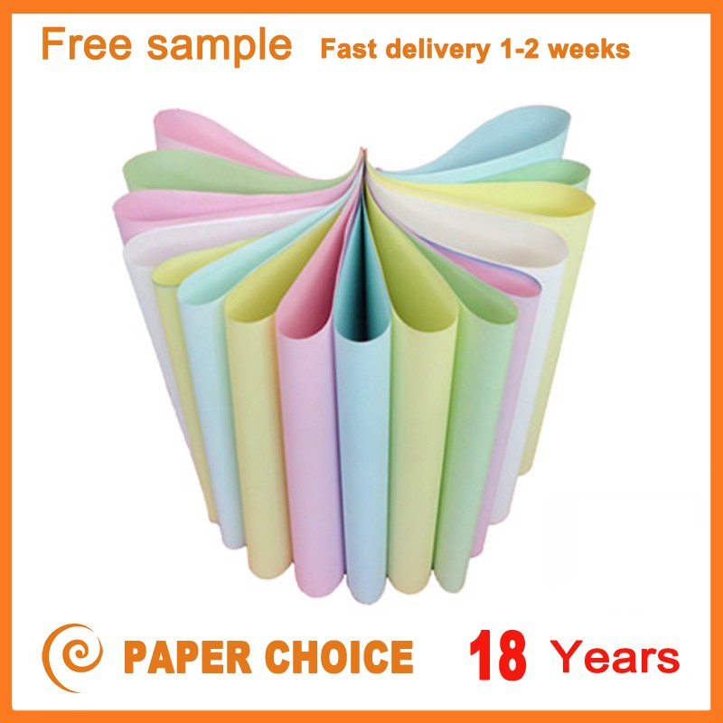Free Sample Multiple Fancy 75GSM Colour Paper For Book Binding