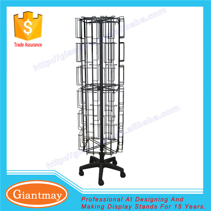spinning floor unit greeting card wholesale display racks stand