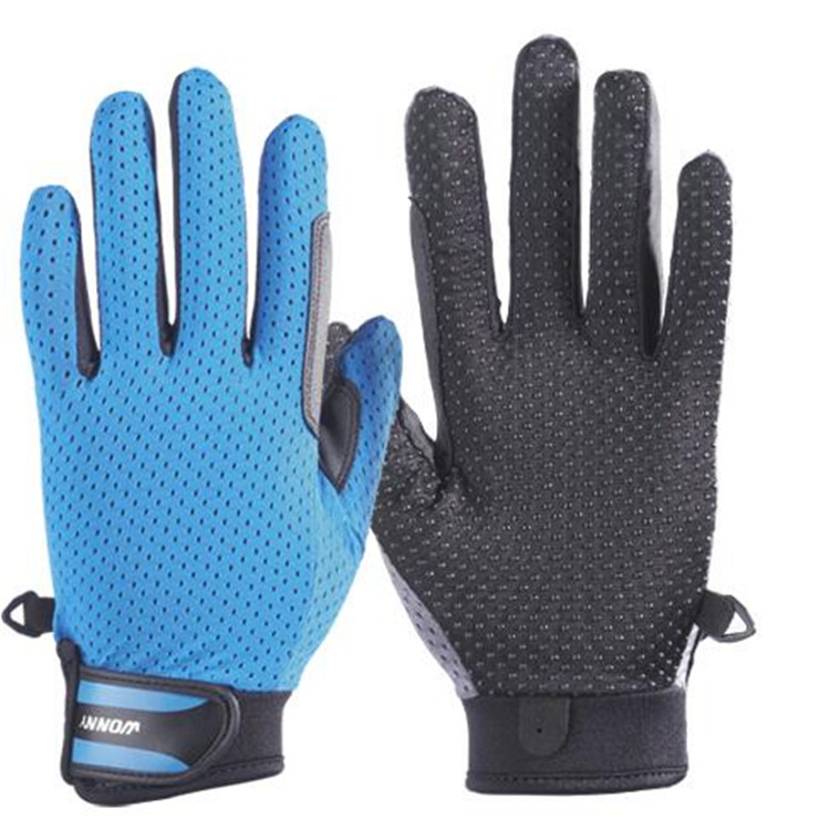 Made in China royal blue horse riding gloves
