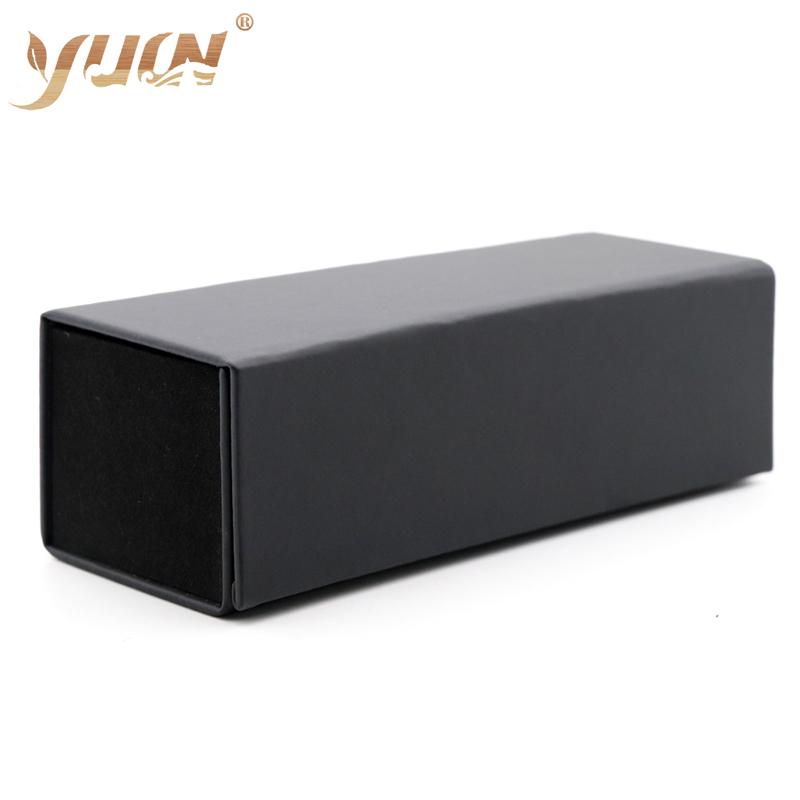 Hot sale folding case outside pvc inside soft velvet box cheap sun glasses cases boxes custom logo available, Black