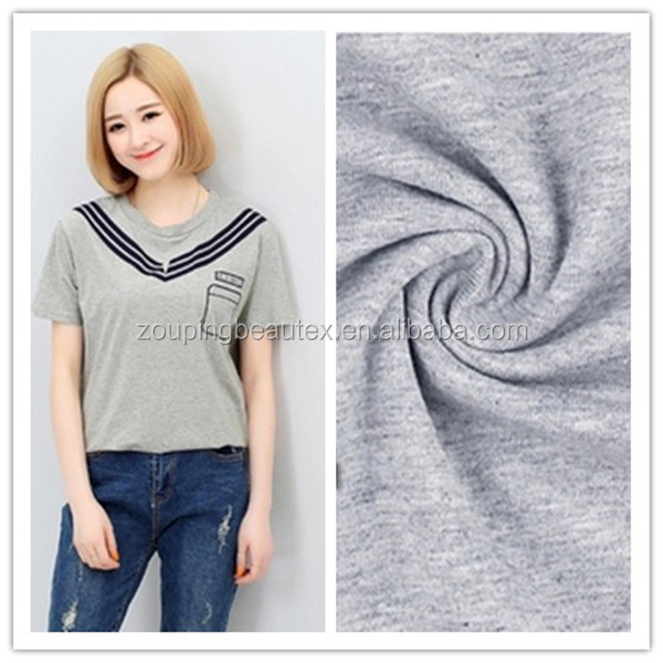 cotton jersey knit fabric have more color can be customer made in china.