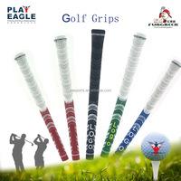 Custom Logo Rubber Golf grip Standard Size or Midsize Plus Golf Iron Grips Spun Cotton