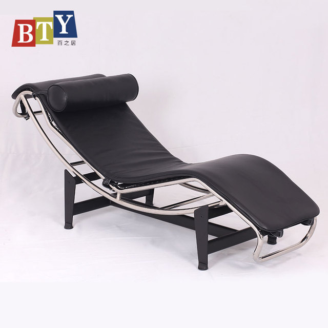 Modern Le Corbusier LC4 Chaise Lounge Chair