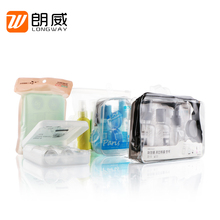 China made colorful air flight bottle and cream jar hotel airline travel kit