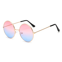 A0301 Superhot Eyewear 53mm Classic Retro Vintage Men Women Sun glasses Fashion Mirrored Round Metal Sunglasses
