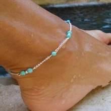 1 шт уникальные красивые бусы цепь ножной браслет сувенир лодыжки браслет ноги ювелирные изделия быстрая оптовая продажа(Китай)