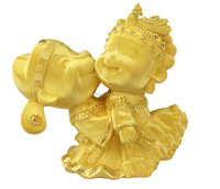 hot selling brass sculpture kissing wedding figurine