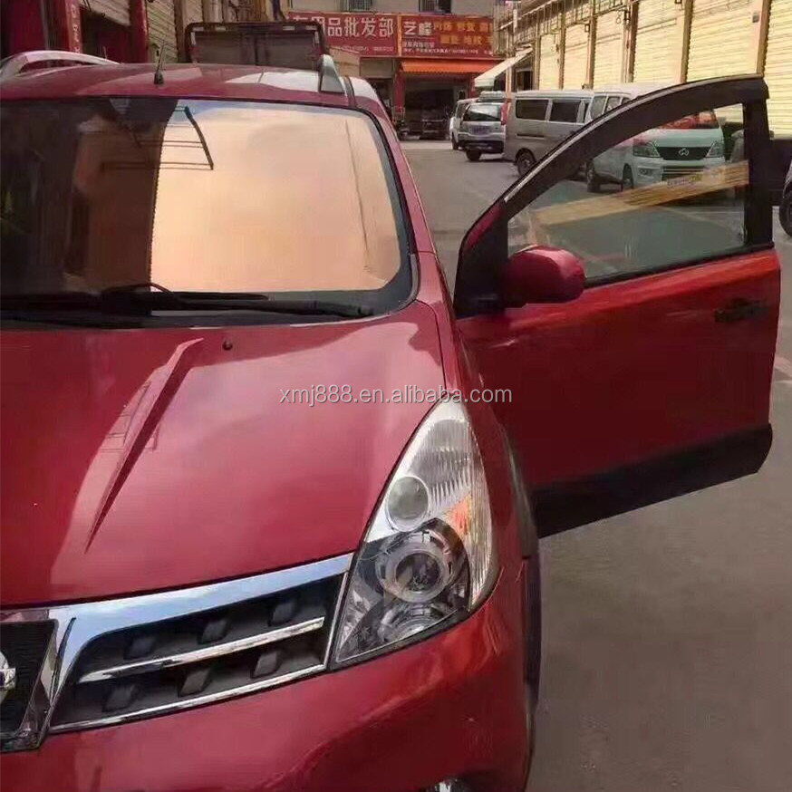 Red Window Tint >> Titanium Reflective One Way Mirror Car Solar Window Tint Film Decoration Pet Glass Film Buy One Way Mirror Car Window Tint Film Reflective Film One
