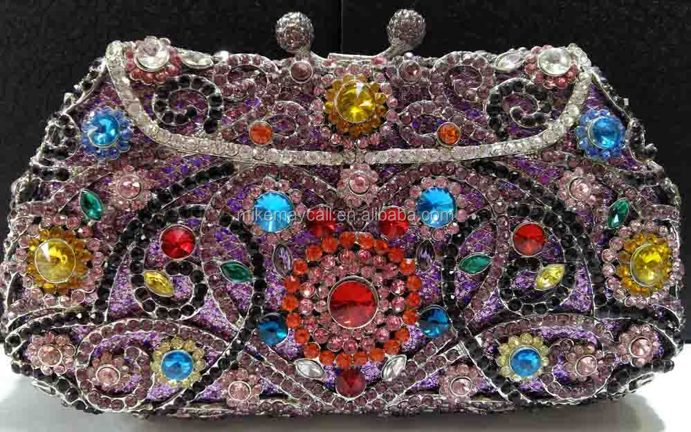 MS4224(125) Multi color crystal bags for party Austrian crystal evening bag high quality handbag party clutch bag