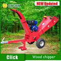 ATV wood chipper with 15hp petrol engine
