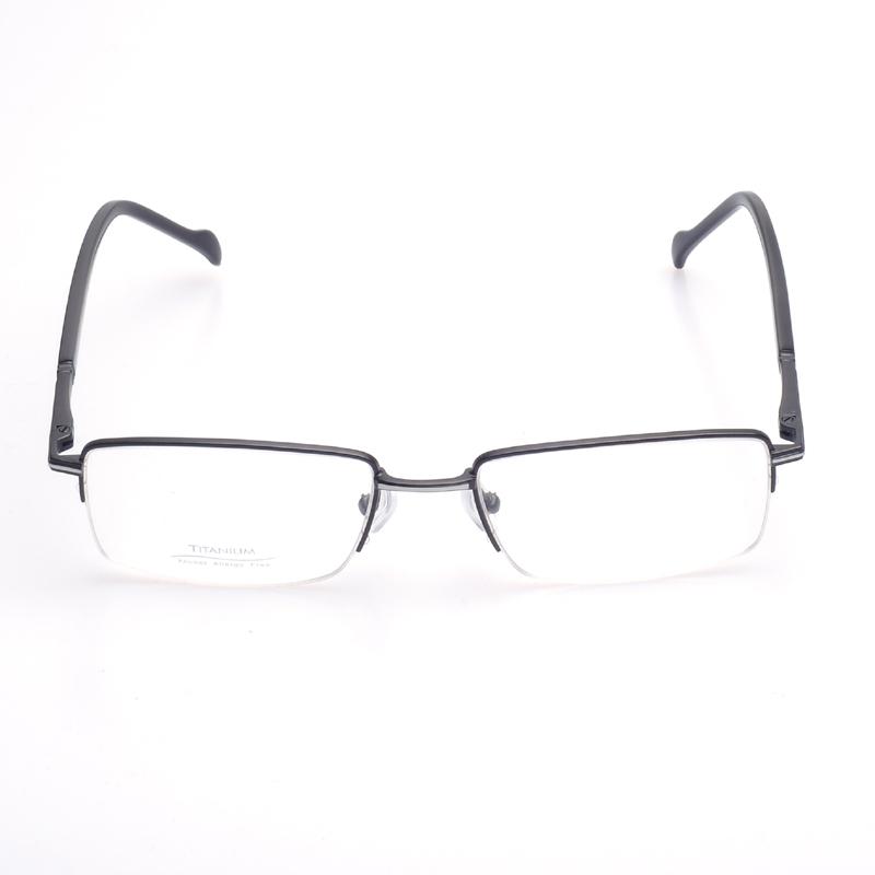 772ee713cc Men Titanium Frames For Eyeglasses Half Rim