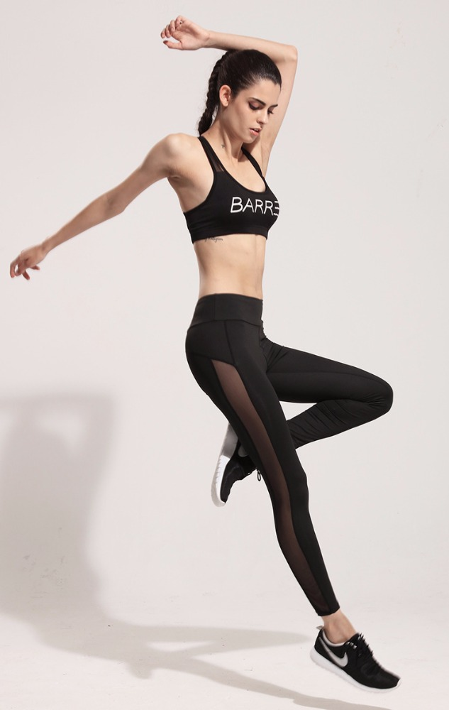 High Quality Compression Leggings Women Mesh Printed Workout Tights