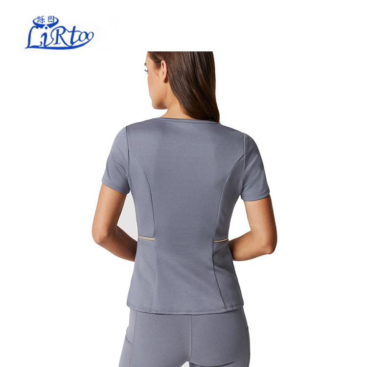 Modieuze stretch spandex medische scrubs verpleging tandheelkundige uniform